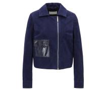 Regular-Fit Jacke aus Veloursleder mit Tasche