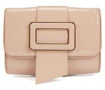 Mini Bag aus Lackleder mit Statement-Schließe