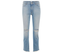 Regular-Fit Cropped-Jeans aus komfortablem Stretch-Denim