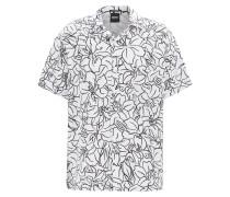 Relaxed-Fit Hemd aus Leinen-Mix mit Kaktus-Print