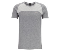 T-Shirt in Colour-Block-Optik aus Stretch-Piqué