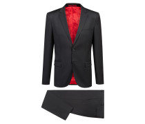 Extra Slim-Fit Anzug aus natürlich elastischer Schurwolle