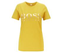 T-Shirt aus Baumwoll-Jersey mit Folien-Logo