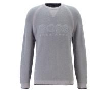 Pullover aus Bouclé-Teddy mit Logo-Stickerei