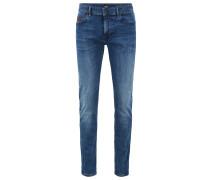 Skinny-Fit Jeans aus Super-Stretch-Denim in melierter Optik