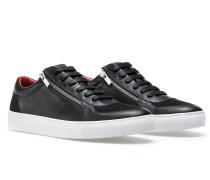 Sneakers aus Leder im Tennis-Stil