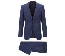Gestreifter Slim-Fit Anzug aus Schurwolle