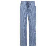 Gestreifte Pyjama-Hose aus Baumwoll-Twill