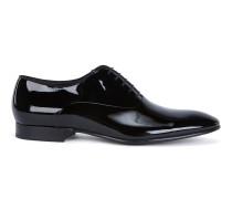 Oxford-Schuhe aus Lackleder mit Ripsband-Paspel