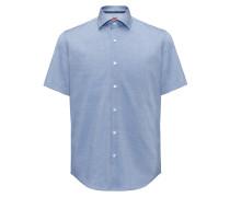 Regular-Fit Kurzarm-Hemd aus bügelleichter Baumwolle