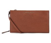 Handtasche im Geldbörsen-Stil aus geprägtem italienischem Leder
