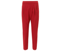 Relaxed-Fit Hose aus Krepp in Cropped-Länge