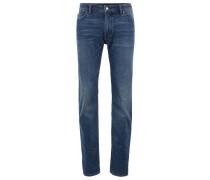 Regular-Fit Jeans aus elastischem Denim