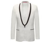 Extra Slim-Fit Smoking-Jacke aus Twill mit Paspeln