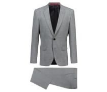 Regular-Fit Anzug aus Stretch-Gewebe für Reisen