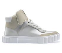 Hightop Sneakers mit Metallic-Finish und Schnürung