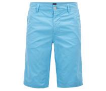 Slim-Fit Shorts aus überfärbter Baumwoll-Popeline
