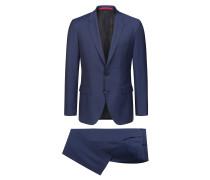Regular-Fit Anzug aus strukturiertem Schurwoll-Mix