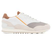 Sneakers aus Veloursleder, Leder und Material-Mix
