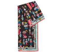 Foulard-Schal mit exklusivem Jeremyville-Print