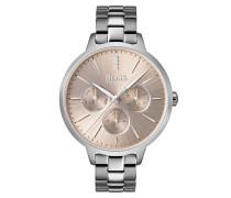 Uhr mit rundem Gehäuse und echten Diamanten