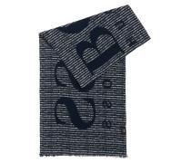Gestreifter Schal aus mittelschwerer Baumwolle