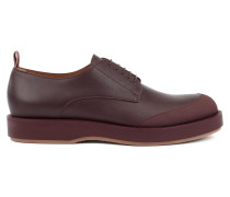 Derby shoes in polished leather with EVA-rubber outsole