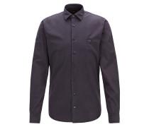 Slim-Fit Hemd aus pigmentgefärbter Baumwolle