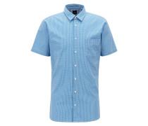 Slim-Fit Hemd aus elastischem Baumwoll-Canvas