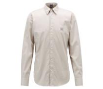 Regular-Fit Hemd aus pigmentgefärbter Baumwolle