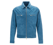 Regular-Fit Blouson aus weichem Veloursleder
