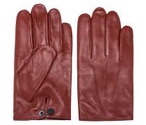 Handschuhe aus Nappaleder mit Logo-Druckknopf