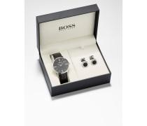 Geschenk-Set mit Uhr und Manschettenknöpfen