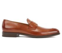 In Italien gefertigte Loafer aus pflanzlich gegerbtem Leder