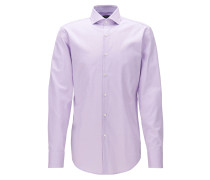 Slim-Fit Hemd aus Baumwolle mit Cutaway-Kragen