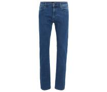 Regular-Fit Jeans aus gewaschenem Super-Stretch-Denim