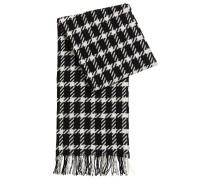 Schal aus Schurwolle mit Grafik-Muster