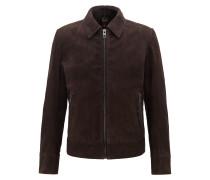 Slim-Fit Jacke aus gewachstem Leder