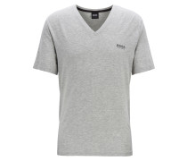 Pyjama-Shirt aus Stretch-Modal mit V-Ausschnitt