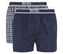 Pyjama-Shorts aus reiner Baumwolle im Zweier-Pack