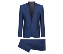 Extra Slim-Fit Anzug aus fein gemusterter Schurwolle