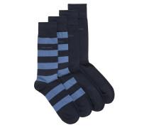 Zweier-Pack mittelhohe Socken aus gekämmtem Baumwoll-Mix