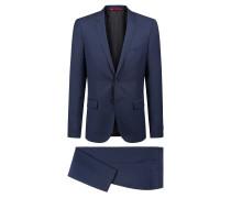 Extra Slim-Fit Anzug aus Schurwolle mit Web-Dessin
