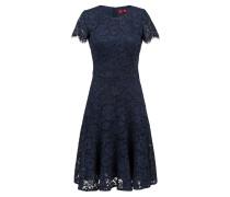 Kurzarm-Kleid aus Spitze mit wellenförmigem Saum