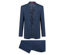 Slim-Fit Anzug aus Schurwolle mit dezentem Muster