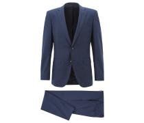 Slim-Fit Anzug aus mittelschwerer Schurwolle