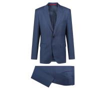 Gestreifter Regular-Fit Anzug aus Schurwolle
