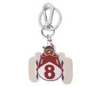 Schlüsselanhänger aus Edelstahl, Messing und Emaille