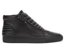 Hightop Sneakers aus gepolstertem Nappaleder mit Reißverschluss