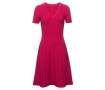 Kleid aus Super-Stretch-Gewebe mit Waffelstruktur